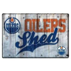 Edmonton Oilers Shed Sign (New) Calgary Alberta Preview