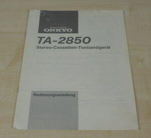 Onkyo TA-2850 original Bedienungsanleitung Deutsch (2)