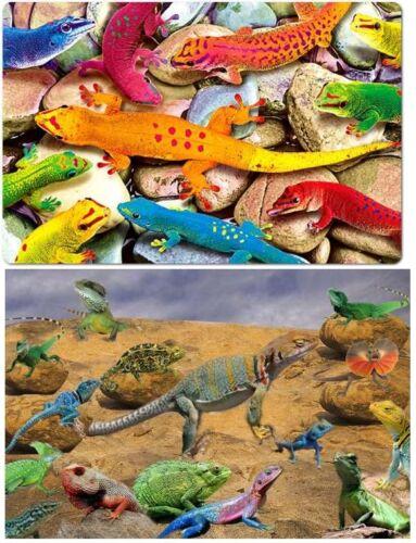 TischSet 3 D Eidechsen Platzset 2erSet Platzdeckchen Poster Bild Echsen Geckos