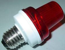 Rouge Flash Stroboscope, Prise E27, 230VAC - 3,5W Forain, Keller partie, Alarme