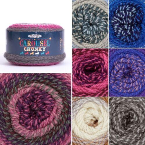 Venta King Cole carrusel Grueso Pastel A Rayas de hilo de ganchillo lana Acrílico 200g