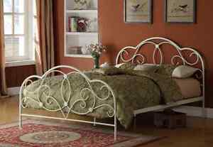 bett 140x200 wei ehebett g stebett einzelbett doppelbett metallbett romantisch ebay. Black Bedroom Furniture Sets. Home Design Ideas