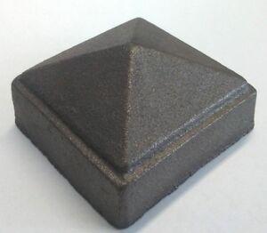 """Lot of 10 Cast Iron Pyramid Post Cap fits 2""""Sq Post"""