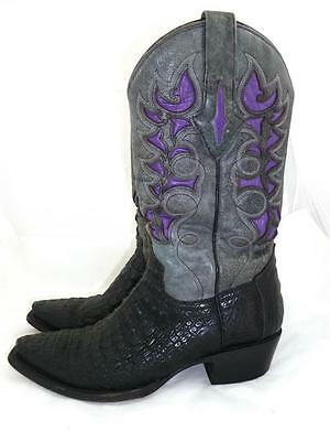 cd8d71f85c0 RESISTOL RANCH LUCCHESE USED WOMAN 7.5 M CAIMAN/GATOR LEATHER COWBOY BOOTS  3509 | eBay