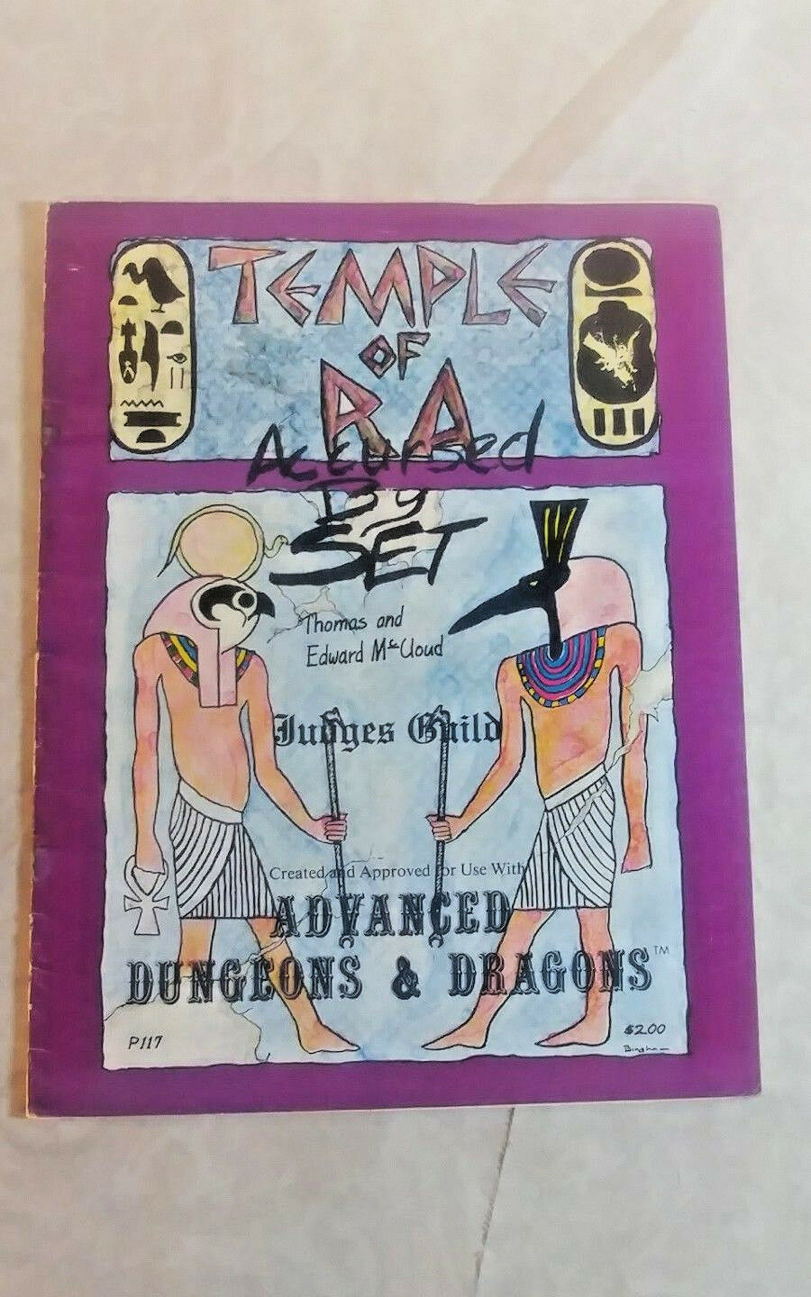 Judges Guild D&D Module Temple of Ra - Accursed by Set  1st Printing