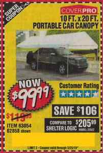 Harbor Freight Coup.on for 10 FT. X 20 Portable Car Canopy ...