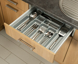 kitchen cabinet storage inserts grey cutlery tray box insert cabinet w 30 90cm kitchen 19648