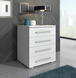 Classy sideboard high gloss fronts chest of drawers 50 cm for Sideboard 50 cm