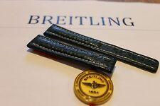 100% Genuine New OEM Breitling Green Shark Skin Deployment Strap 19-16mm
