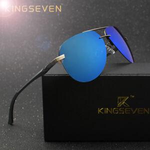 79c9860117d7 Image is loading KINGSEVEN-Aluminum-Magnesium-Polarized-Sunglasses-Men- Driver-Mirror-
