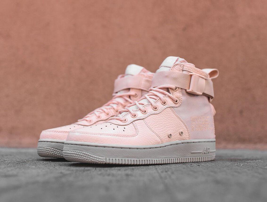 Femme Nike SF AF1 Mid bottes UK 6 EU 40 rose Air Force 1 Baskets AA3966-800