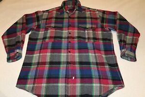 Vintage-Polo-Ralph-Lauren-Sportsman-Men-Wool-Plaid-BLEND-Mackinaw-Jacket-SHIRT-L