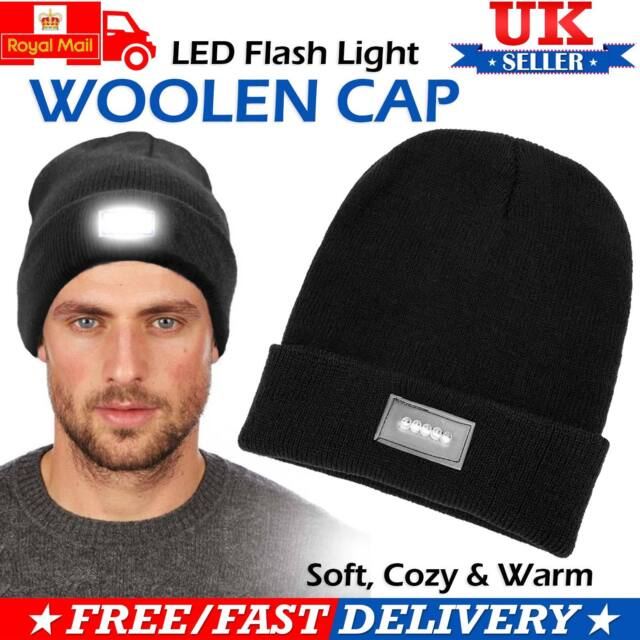 5-LED Light Cap Beanie Hat with 2 Batteries For Sports Hunting Camping  Fishing 0c36299c1075