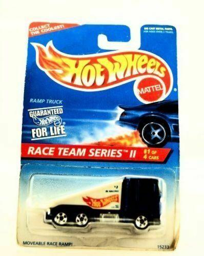 HOT WHEELS 1995 RACE TEAM SERIES II RAMP TRUCK #1//4 BLUE