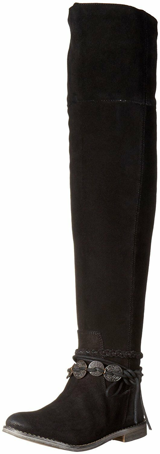 Musse & Cloud ANSLEY Tall Over Knee Stiefel NEW Suede Leather schwarz 710 NIB Spain