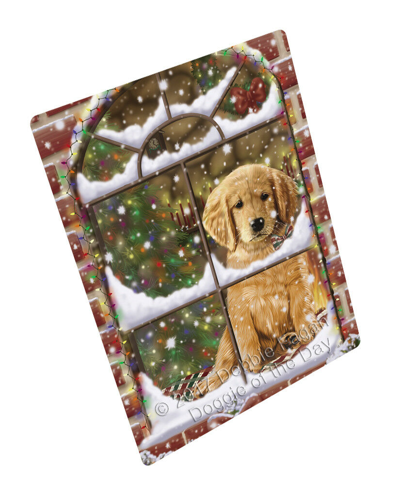 Come Home For Christmas Golden Retrievers Hund Woven Throw Sherpa Blanket T256