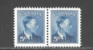 CANADA KING GEORGE VI --POSTES-POSTAGE-- OMITTED  5 CENTS PAIR # 293 NH