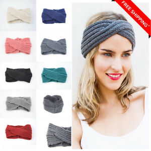 Womens Winter Knitted Headband Chunky Crochet Ear Warmer Ebay