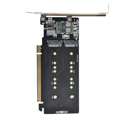 Cablecc 4X NVME M.2 AHCI zu PCIE Express 3.0 Gen3 X16 RAID-Karte VROC Raid0 Hyper Adapter