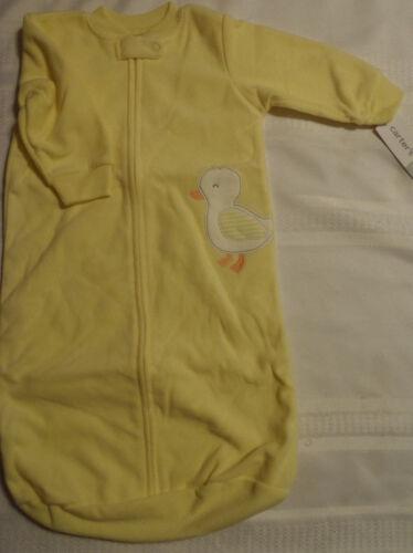 CARTERS Baby 0-9 Month Fleece Pajama Zip Front Sleepbag NWT Choice Duck Owl Paw