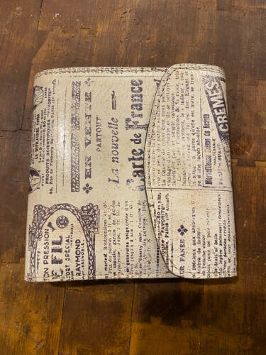 Patricia Nash Newspaper Print Wallet Coin Clutch L