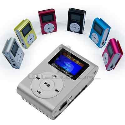 Reproductor Lector MP3 Player Clip Aluminio con Pantalla LCD Memoria hasta 32GB