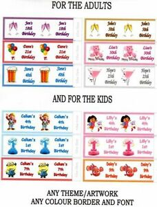 36-x-PERSONALISED-BIRTHDAY-PARTY-POPPER-LABELS-WRAPPERS