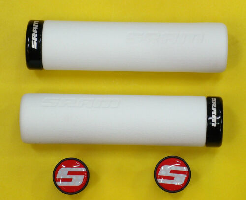 White with Single Black Clamp and End plugs SRAM Locking Grips Foam