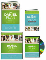 The Daniel Plan 40 Days To A Healthier Life Book,dvd,study Guide & Journal 4pk