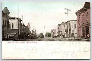 Waupun-Wisconsin-Main-Street-East-Columbia-Charles-N-Holmes-Horse-Wagon-1907