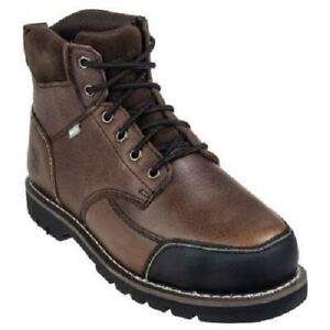 af380b4fc45 Details about Iron Age Boots: Men's Brown IA0163 Steel Toe Internal Met  Guard Work Boots