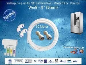 Side By Side Kühlschrank Anschließen : Side by side verlängerung set sbs kühlschrank 6mm schlauch anschluss