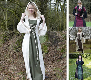 Clever Battle Merchant Mittelalterkleid Nele Mit Kapuze Mittelalter Kleid 2-farbig