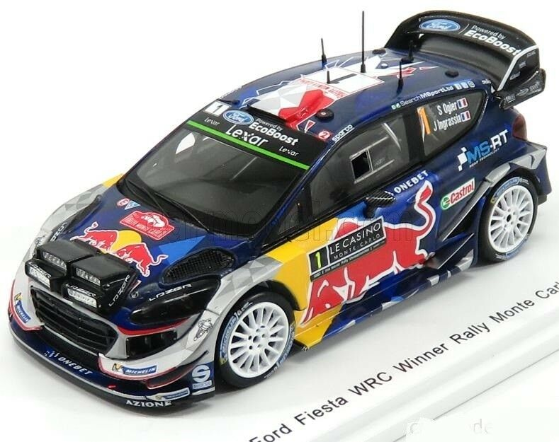 FORD FIESTA RS WRC  1 - S.OGIER - 1º RALLY MONTE CARLO 2017 1 43 NEW SPARK S5154
