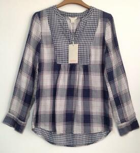 MONSOON-CALANDRA-DOUBLE-FACED-CHECK-SHIRT-Brand-New-With-Tags-Size-8