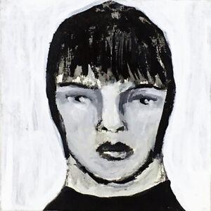 Black-amp-White-Minature-Art-Painting-Original-Nothing-Hidden-Katie-Jeanne-Wood