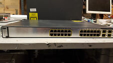 Cisco Catalyst WS-C3750G-24PS-S 24x PoE Inline Power Port GIGABIT Switch EMI IOS