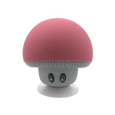 Pink Cute Mushroom Suction Wireless Bluetooth Mini Speaker for Cellphone iPad PC