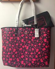 COACH F55862 REVERSIBLE CITY TOTE BAG IN PRAIRIE CALICO W/ POUCH $350 BNWT!