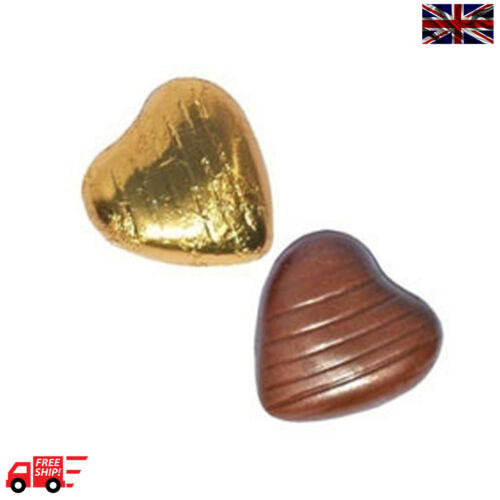 Gold High Quality Chocolate Foiled Love Hearts Wedding Favours Party Valentine
