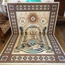 """MASONIC Area RUG 6'6""""x9'6"""" Carpet Apron Lodge Bible Freemason Mason Ring Templar"""