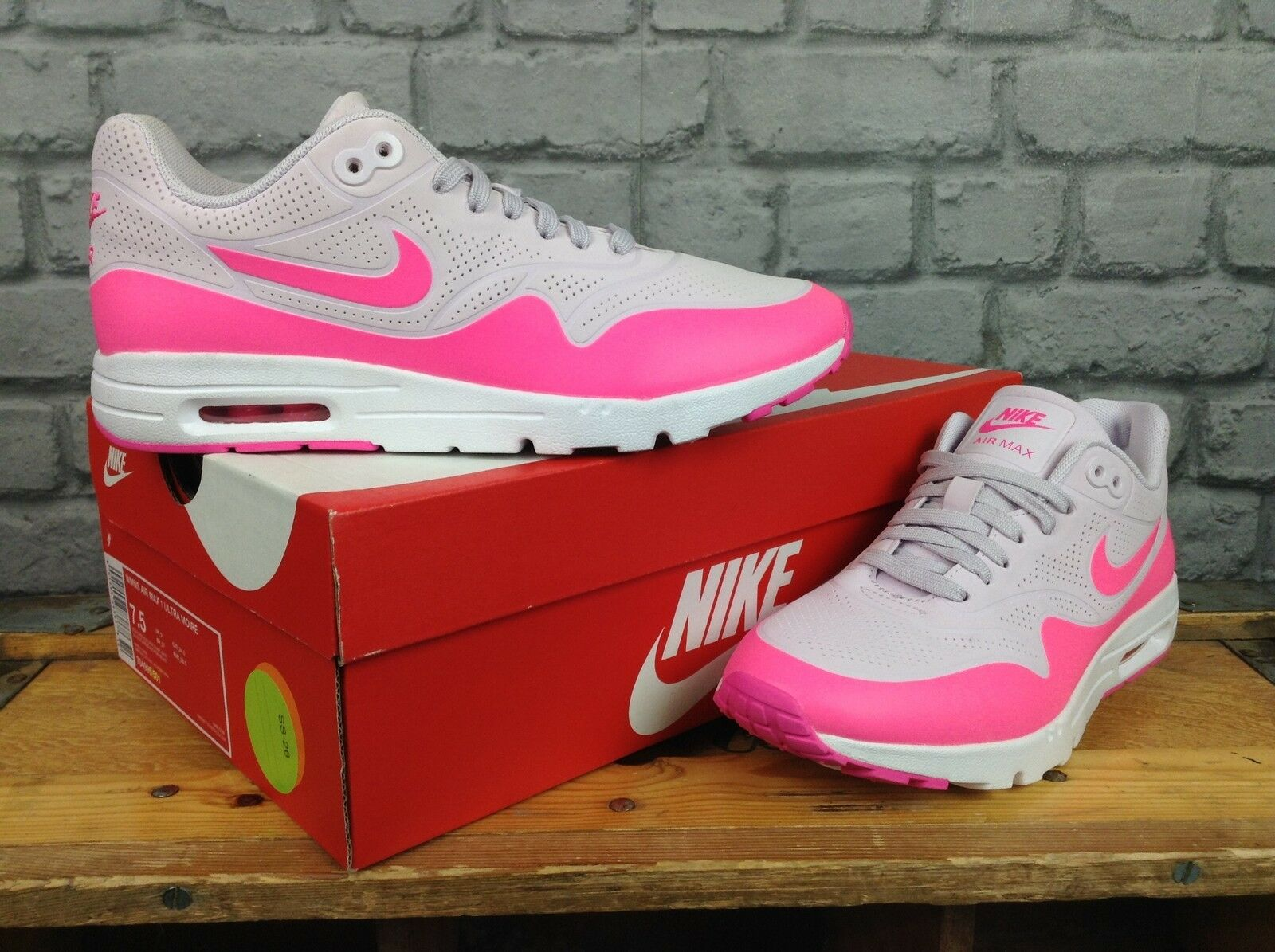 Nike Femmes lilas rose air air air max 1 ultra moire Baskets fd4bd2