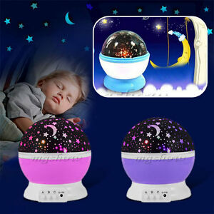 Beautiful star sky starry night projector mood light lamp for kids baby bedroom ebay for Starry night lights for bedroom