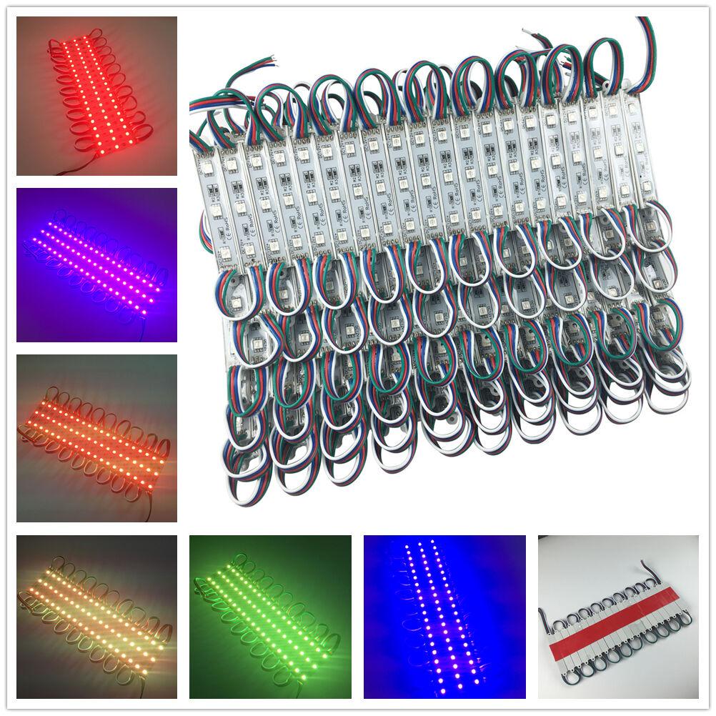 1000PCS 500 Pies Brillante 5050 RGB LED SMD 3 Leds Luz Módulo Impermeable 12V DC