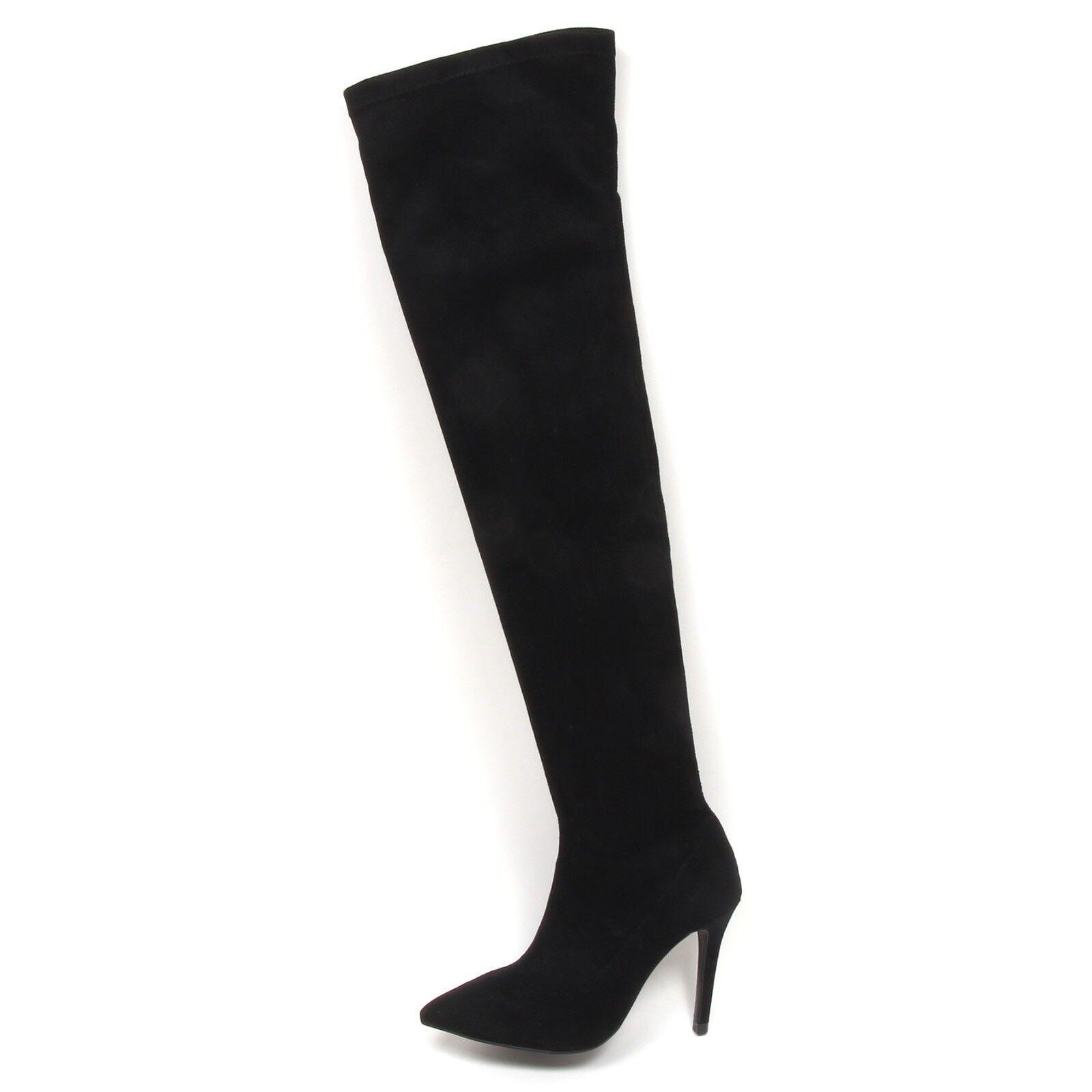 Grandes zapatos con descuento E5338 stivale donna black GAUDI' scarpe eco suede shoe boot woman