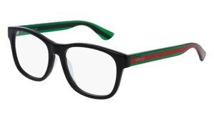 NEW-Gucci-Urban-GG-0004OA-Eyeglasses-002-Black-100-AUTHENTIC