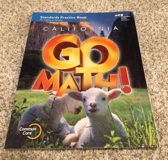Houghton Mifflin Harcourt Go Math California Practice Workbook Grade K 1st Edition