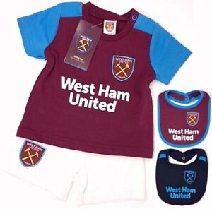 WEST HAM UNITED FC BABIES T SHIRT SHORTS SET KIT BABY PRAM SUIT ... 9f87d758e