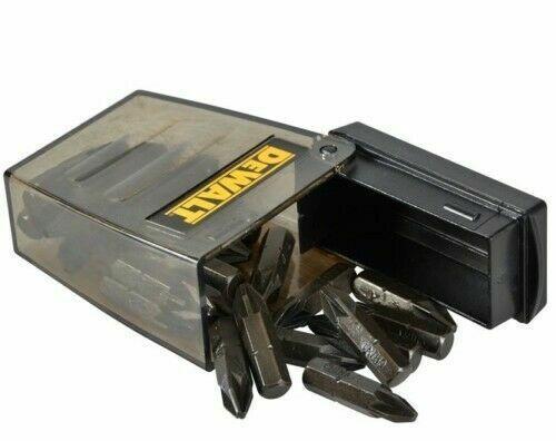 25 DEWALT POZI 2 PZ2 SCREW IMPACT DRIVER BITS DT71521 IN TIC TAC STORAGE BOX