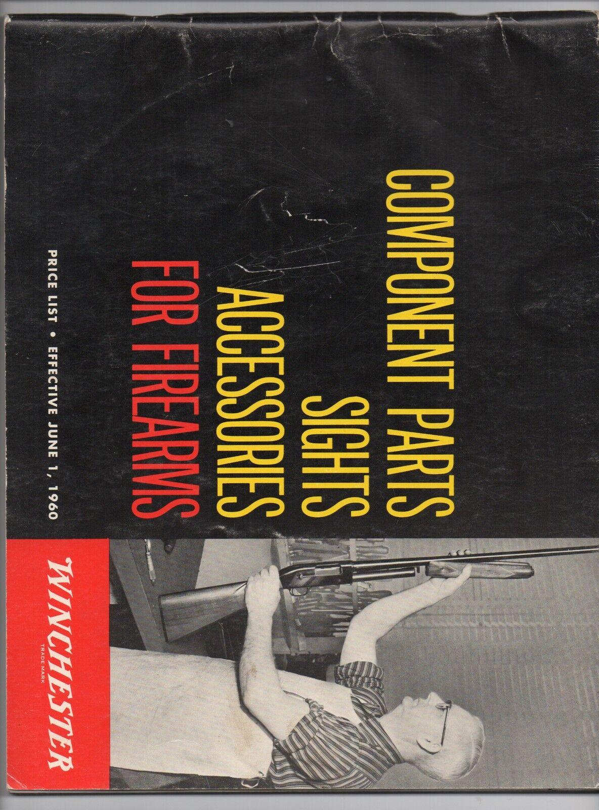 FOLLETO 1960 grande de piezas componentes y accesorios para Winchester Firearms